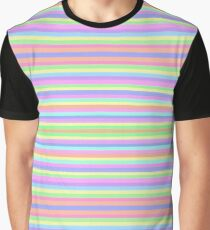 hand-painted stripes in colourful paint  Graphic T-Shirt