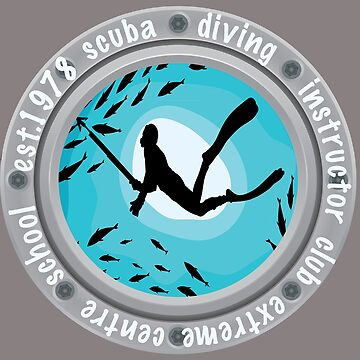 Scuba Diving Club Instructor Oceans Beach T-shirt by Picart13