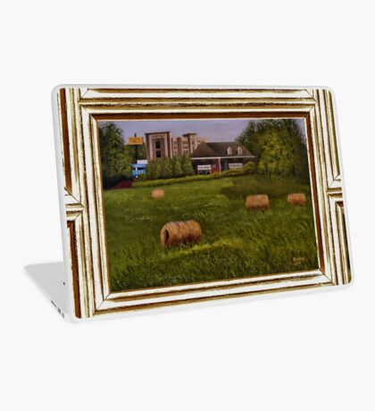 A LITTLE BIT OF COUNTRY, ACRYLIC PAINTING, DISPLAYED WITH SYNTHETIC FRAME Laptop Skin