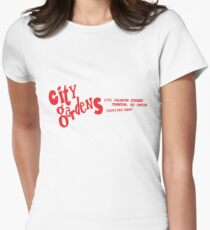 City Gardens - Punk Card Tee Shirt (v. 4.0 red) Womens Fitted T-Shirt