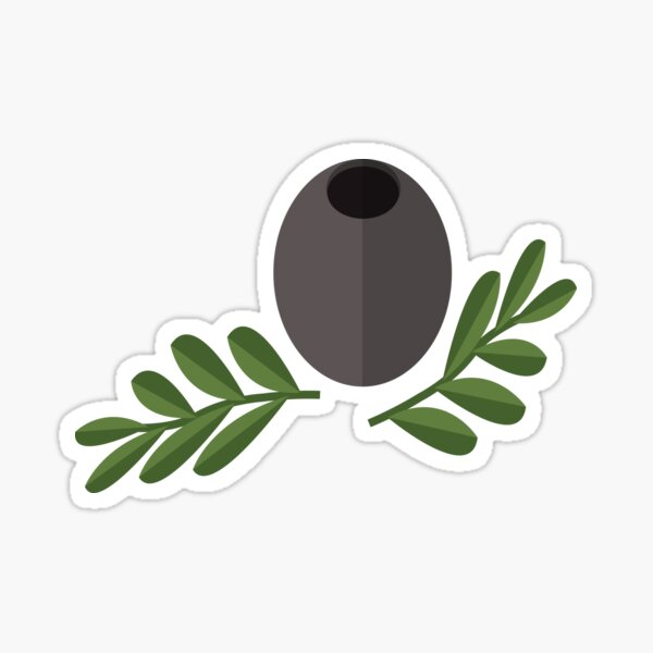 Black Olive Sticker