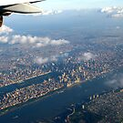 New York City from the plane by Dalmatinka