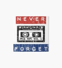 NEVER FORGET THE CASSETTE - RETRO DESIGN WITH EMBOSSED TAPE LETTERS Art Board
