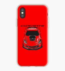 Chevrolete Corvette C7 Z06 - Dark Transparent/Multi Color iPhone Case