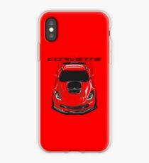 Chevrolete Corvette C7 Z06 - Dark Transparent/Multi Color iPhone Case