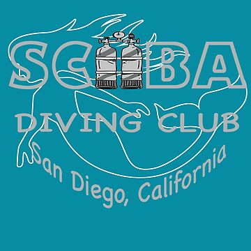 Scuba Diving Instructor California Beach T shirt by Picart13