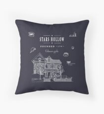 Stars Hollow Collage Throw Pillow