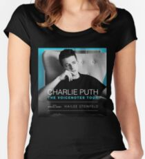 puth charlie tour 2018 biaya Women's Fitted Scoop T-Shirt