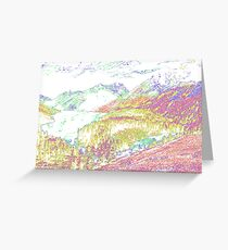 Psychedelic Landscape Greeting Card