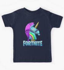 Fortnite Unicorn Rainbow Smasher Kids Tee