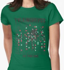 talking heads inspired tour tee Women's Fitted T-Shirt
