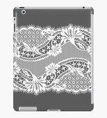 White lace ribbon. iPad Case/Skin