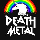 Death Metal Unicorn Funny Rocker Music Band Festival T Shirt by Cheesybee