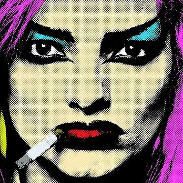 Pop Art Portrait - Nina Hagen by nofunatall