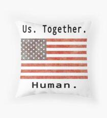 Us Together Human Flag Throw Pillow