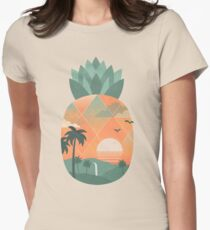 Tropical Gold Women's Fitted T-Shirt