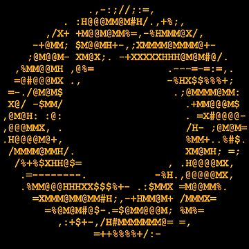 Aperture Science ascii logo on black by FbsArts