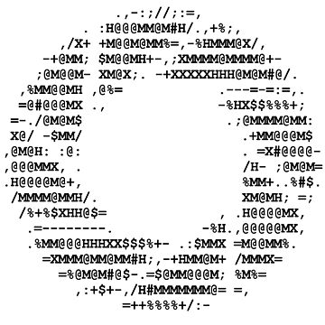 Aperture Science ascii logo on white by FbsArts
