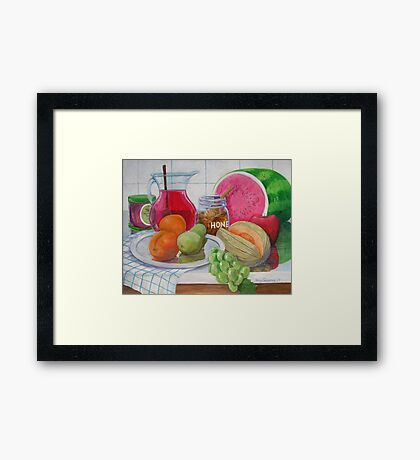 Honey and Fruit Framed Print