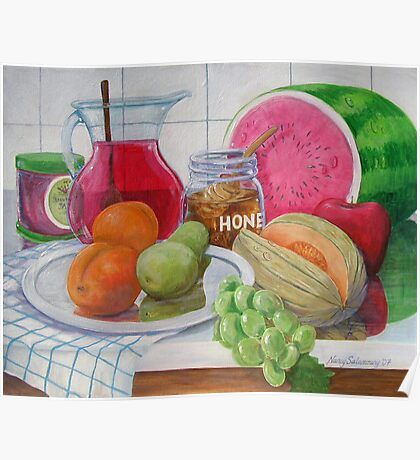 Honey and Fruit Poster