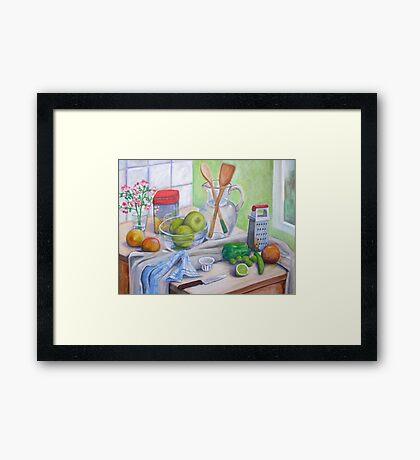 Still Life by Window Framed Print