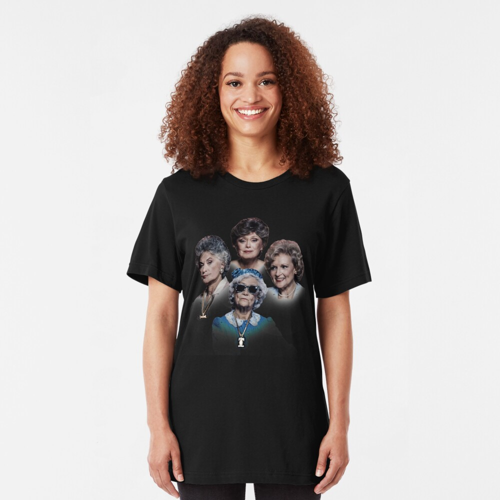Golden Girls Death Row Pose T-Shirt and Gear Slim Fit T-Shirt