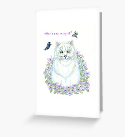 What's New Pussycat Greeting Card