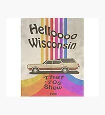 Hello Wisconsin Photographic Print