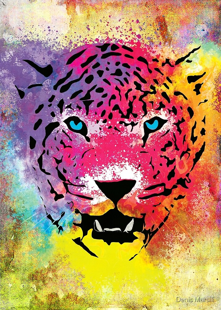 Colorful tiger print