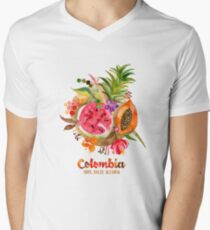 Fruits of Colombia | Frutas Colombianas Men's V-Neck T-Shirt