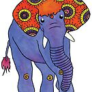 Paislephant - The Paisley Patterned Elephant by Elvedee