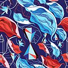 Seamless plant pattern leaves and geometry by Tanor
