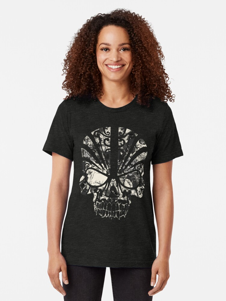 Alternate view of SKULLS Tri-blend T-Shirt