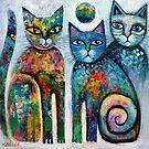 Three cute cats  by Karin Zeller