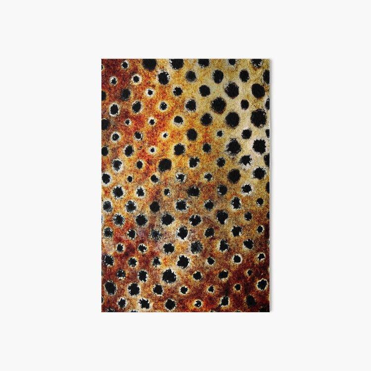 Rust Leopard Art Board Print