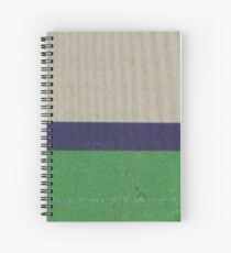 CREAM BLUE BAND GREEN Spiral Notebook