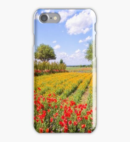 Texas Wildflower Farm  iPhone Case/Skin