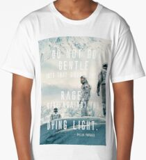 """Interstellar """"Rage against the dying of the light"""" Version 3 Long T-Shirt"""