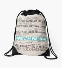 Speech Language Pathologist in over 50 languages Drawstring Bag