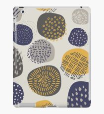Abstract Pattern of Circles in Navy and Mustard iPad Case/Skin