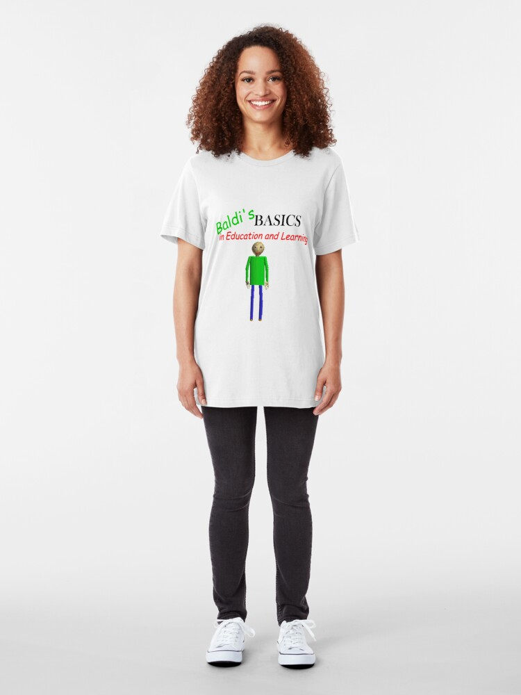 Alternate view of Baldi's Basics in Education and Learning Slim Fit T-Shirt
