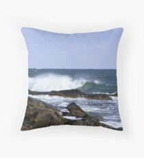 Eastern Point Coast Guard Station Throw Pillow
