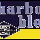 Charbon Bleu (Blue Coal) - Vintage Railroad Signage by CultofAmericana