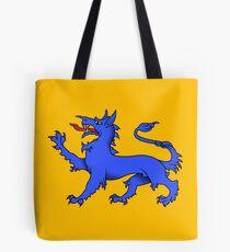 Blue Tyger sur l'or Tote bag