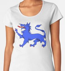 Camiseta premium para mujer Blue Tyger en oro