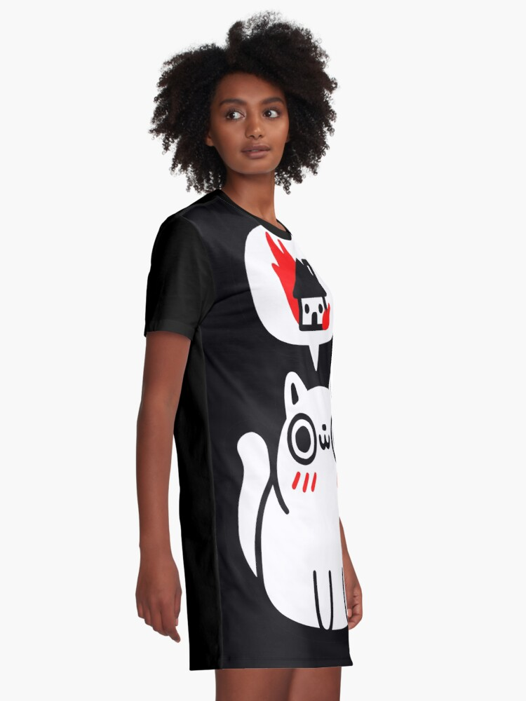 Alternate view of Dreaming Of Destruction Graphic T-Shirt Dress