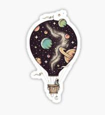 Hot air balloon Art / Space Style  Sticker