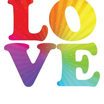 Love Rainbow Flag LGBT Gay Pride 4 by BOBSMITHHHHH