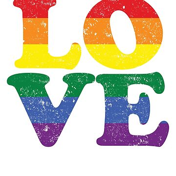 Love Rainbow Flag LGBT Gay Pride 6 by BOBSMITHHHHH