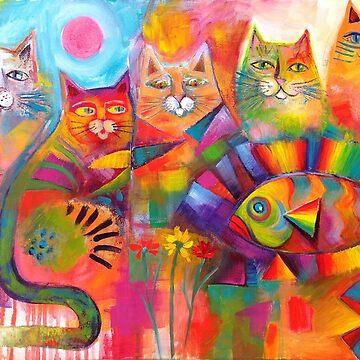 Cats & Fish  by karincharlotte